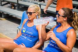 Erika Fabjan of Sberbank and Monika Potokar of Sberbank during Qlandia Beach Challenge 2015 and Beach Volleyball Slovenian National Championship 2015, on July 25, 2015 in Kranj, Slovenia. Photo by Ziga Zupan / Sportida