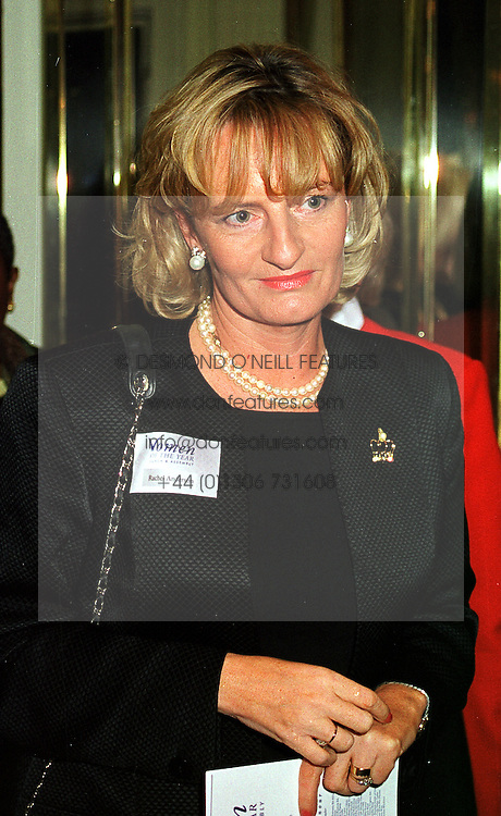 Football agent RACHAEL ANDERSON, at a luncheon in London on 11th October 1999.MXJ 7