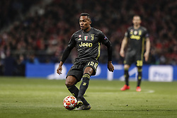 February 20, 2019 - Madrid, Spain - Alex Sandro (Juventus)  in action during the match   UCL Champions League match between Atletico de Madrid vs Juventus at the Wanda Metropolitano stadium in Madrid, Spain, February 20, 2019  (Credit Image: © Enrique De La Fuente/NurPhoto via ZUMA Press)