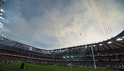 London, Great Britain,    The RAF, Red Arrows make a fleeting visit to 2015 Rugby World Cup Final. New Zealand vs Australia,, Twickenham Stadium,London. England,, Saturday  31/10/2015. <br /> [Mandatory Credit; Peter Spurrier/Intersport-images]