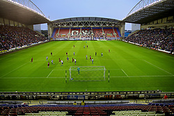 WIGAN, ENGLAND - Friday, July 14, 2017: A general view of the DW Stadium as Liverpool take on Wigan Athletic during a preseason friendly match. (Pic by David Rawcliffe/Propaganda)