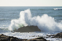 Powerful Waves Crashing Against Rocks, Bean Hollow State Beach, California