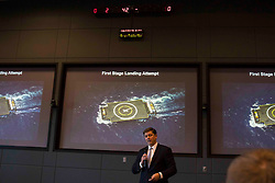 James Hughes discussing SpaceX rocket launch and landing at NASA Kennedy Space Center.