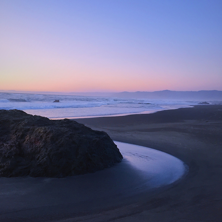 Fort Bragg California Beach Camping Sunset