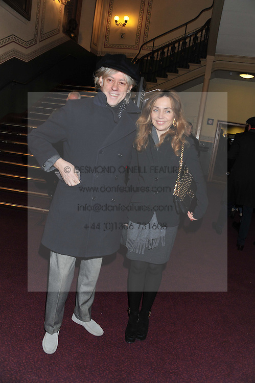 BOB GELDOF and JEANNE MARINE attend the premier of 2012 Cirque du Soleil's Totem at the Royal Albert Hall, London on 5th January 2012,