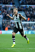 Newcastle United midfielder Matt Ritchie (#11) celebrates Newcastle United's first goal (1-0) during the EFL Sky Bet Championship match between Newcastle United and Derby County at St. James's Park, Newcastle, England on 4 February 2017. Photo by Craig Doyle.