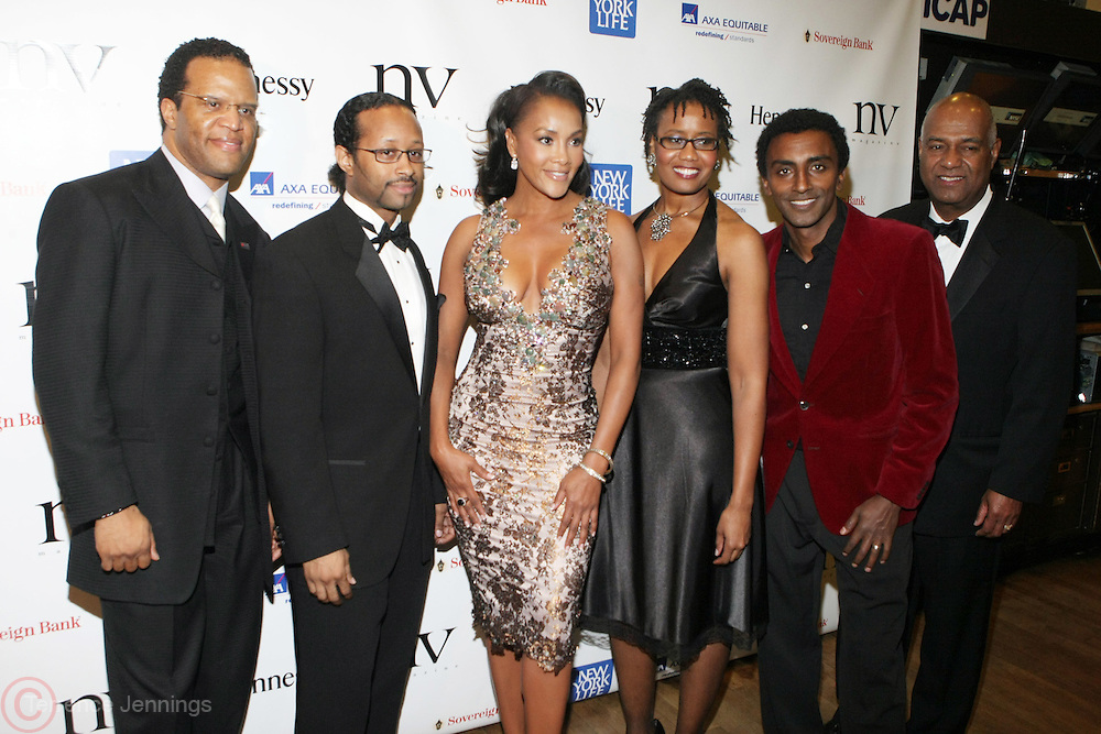 l to r:  John Hope Bryant, Kyle Donavan, Vivica A. Fox , Arva Rice, Marcus Samuelsson and Noel Hankin at The 2009 NV Awards: A Salute to Urban Professionals sponsored by Hennessey held at The New York Stock Exchange on February 27, 2009 in New York City. ....