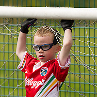 Nigel Kelly in goals at the FAI Eflow Summer Soccer School in Lisdoonvarna