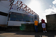 Bradford fans waiting outside the main stand at the Northern Commercials Stadium before the EFL Sky Bet League 1 match between Bradford City and Bristol Rovers at the Northern Commercials Stadium, Bradford, England on 2 September 2017. Photo by Paul Thompson.