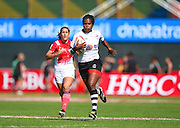 Fiji's Tima Tamoi during the Emirates Dubai rugby sevens match between Fiji and France  at the Sevens Stadium, Al Ain Road, United Arab Emirates on 1 December 2016. Photo by Ian  Muir.*** during the Emirates Dubai rugby sevens match between *** and ***  at the Sevens Stadium, Al Ain Road, United Arab Emirates on 1 December 2016. Photo by Ian  Muir.