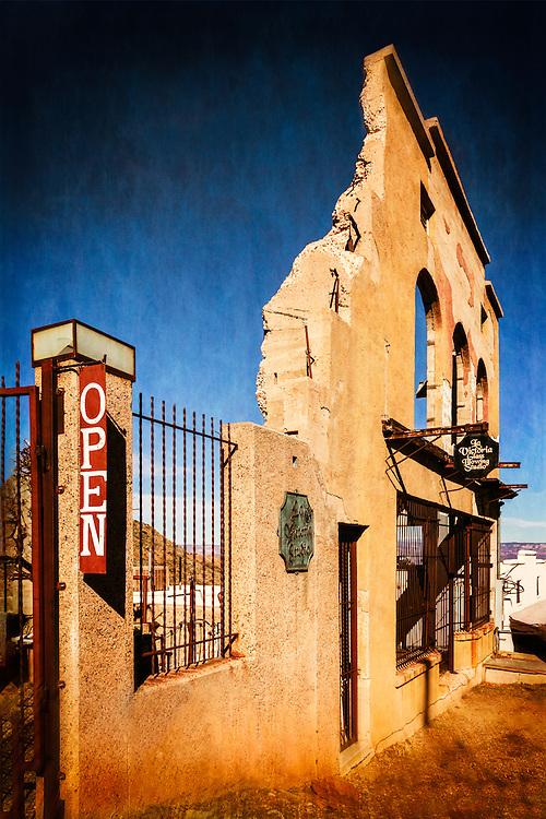 Old historical building in Jerome, Arizona.