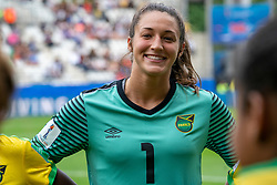 14-06-2019 FRA: Jamaica - Italy, Reims<br /> FIFA Women's World Cup France group C match between Jamaica and Italy at Stade Auguste Delaune / Sydney Schneider #1 of Jamaica