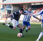 Kilmarnock's Liam Kelly tries to shut down Dundee's Stephen O'Donnell - Dundee v Kilmarnock, William Hill Scottish FA Cup 4th Round,..- © David Young - .5 Foundry Place - .Monifieth - .DD5 4BB - .Telephone 07765 252616 - .email; davidyoungphoto@gmail.com - .web; www.davidyoungphoto.co.uk.
