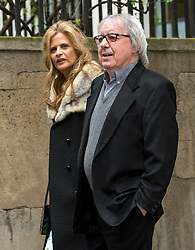 © London News Pictures. FILE PIC DATED 05/03/2016. London, UK.  BILL WYMAN and his wife SUZANNE WYMAN  attend a ceremony to mark the wedding of Rupert Murdoch and Jerry Hall at St Brides Church in London on February 05, 2016. Former Rolling Stone Bill Wyman has been diagnosed with prostate cancer at the aged of 79. Photo credit: Ben Cawthra