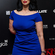 Janine Nerissa Arrivers at Once Upon a Time in London - London premiere of the rise and fall of a nationwide criminal empire that paved the way for notorious London gangsters the Kray Twins and the Richardsons at The Troxy 490 Commercial Road, on 15 April 2019, London, UK.