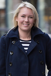 © licensed to London News Pictures. London, UK 12/03/2013. Stella English, a former winner of 'The Apprentice' TV program arriving at East London Tribunal Centre where she is suing Lord Sugar for constructive dismissal. Photo credit: Tolga Akmen/LNP