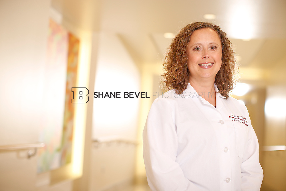 5/28/15 4:11:49 PM -- Dr. Renee Frenier of Saint Francis Health System poses for a portrait for the 2015 Advertising Campaign. <br /> <br /> Photo by Shane Bevel