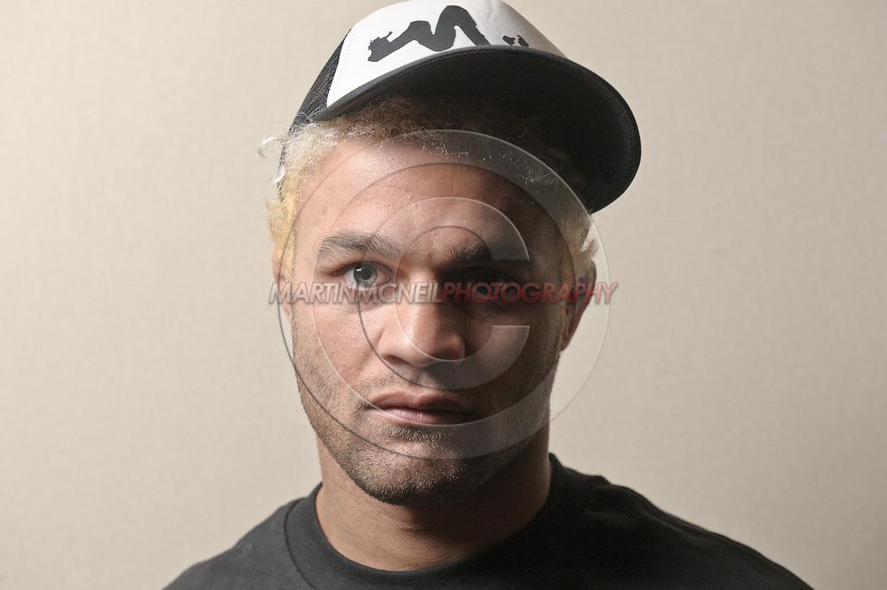 A portrait of mixed martial arts athlete Josh Koscheck