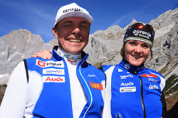 Ivan Hudac and Petra Majdic at practice of Slovenian Cross country National team before new season 2008/2009, on October 22, 2008, glacier Dachstein, Ramsau, Austria. (Photo by Vid Ponikvar / Sportida).