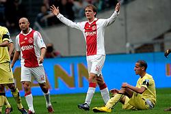 25-04-2010 VOETBAL: AJAX - FEYENOORD: AMSTERDAM<br /> De eerste wedstrijd in de bekerfinale is gewonnen door Ajax met 2-0 / Siem de Jong, Demy de Zeeuw en Karim El Ahmadi<br /> ©2010-WWW.FOTOHOOGENDOORN.NL