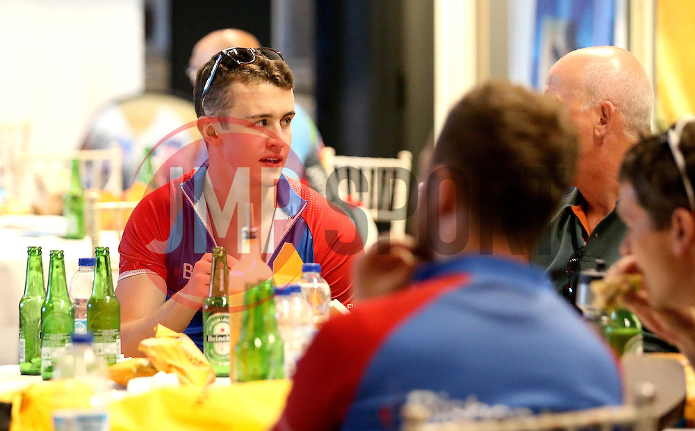Cyclists enjoy complementary food from Nandos and drink from Heineken after taking part in the 111 mile cycling challenge organised by the Community Foundations of Bristol and Gloucester Rugby - Mandatory by-line: Robbie Stephenson/JMP - 03/07/2016 - CYCLING - Ashton Gate - Bristol, United Kingdom - Break The Cycle Challenge 2016