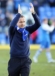 Peterborough United Caretaker-Manager, Dave Robertson claps the fans at full-time - Photo mandatory by-line: Joe Dent/JMP - Mobile: 07966 386802 - 07/03/2015 - SPORT - Football - Peterborough - ABAX Stadium - Peterborough United v Leyton Orient - Sky Bet League One