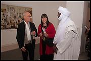 JOHN DUNBAR; CORDELIA DONOHOE; MOHAMED AHMOU; , John Dunbar Private View, England and Co. 90-92 Great Portland Street, London 7 October 2014