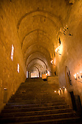 Grand staircase Palace of the Grand Masters, Rhodes, town, Rhodes, Greece