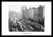 Irland I 1954, her Westmoreland Street i Dublin. Bilder av Irland og irsk historie er tilgjengelig fra.Irishphotoarchive.ie. Kjøp gaver her: unike og kreative gaver, av Irland og irsk hverdagsliv.