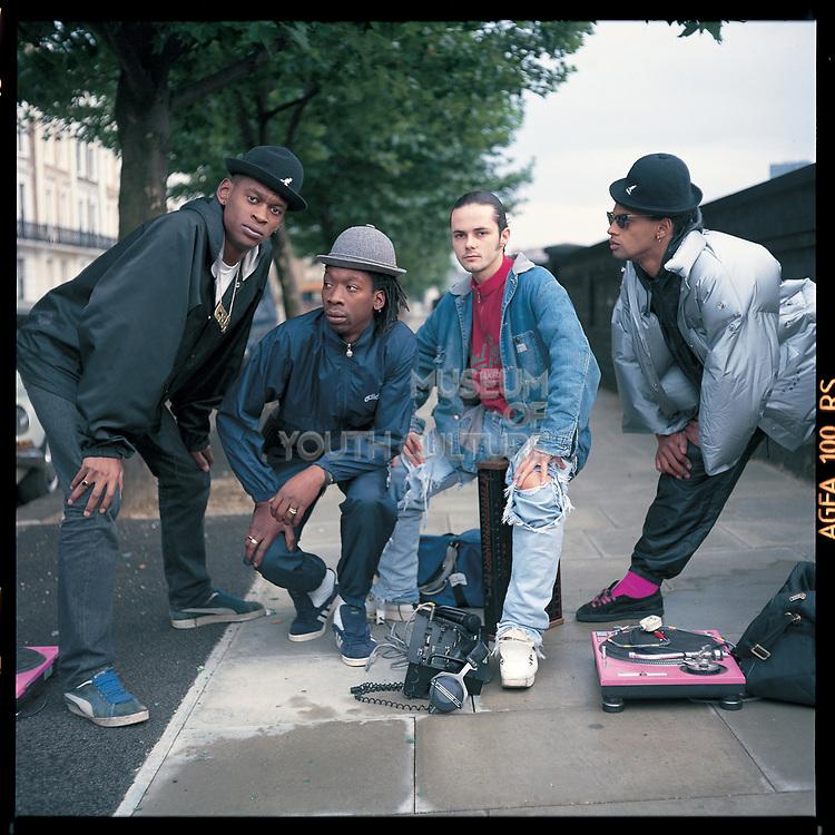 Wild Bunch Decked Out, Camden, 1985, Daddy G, Willie Wee, Nellee Hooper, Milo Johnson