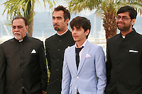 Lalit Behl, Ranvir Shorey, Amit Sial and Kanu Behl at the photo call for the film Titli at the 67th Cannes Film Festival, Monday 19th May 2014, Cannes, France.