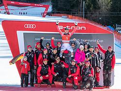 01.02.2020, Kandahar, Garmisch, GER, FIS Weltcup Ski Alpin, Abfahrt, Herren, Siegerehrung, im Bild Teamfoto, Thomas Dressen (GER, 1. Platz) // race winner Thomas Dressen of Germany Teamphoto during the winner ceremony for the men's downhill of FIS Ski Alpine World Cup at the Kandahar in Garmisch, Germany on 2020/02/01. EXPA Pictures © 2020, PhotoCredit: EXPA/ Johann Groder