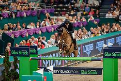 WOLF Cedric (GER), Louisville<br /> Leipzig - Partner Pferd 2020<br /> Glas Strack Speed Cup<br /> Zeitspringprfg., international<br /> Höhe: 1.45 m<br /> 18. Januar 2020<br /> © www.sportfotos-lafrentz.de/Stefan Lafrentz