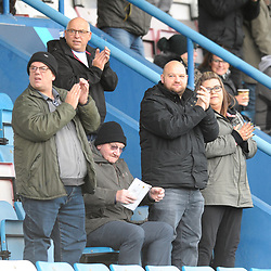 TELFORD COPYRIGHT MIKE SHERIDAN Telford fans during the Vanarama National League Conference North fixture between AFC Telford United and Boston on Saturday, November 2, 2019.<br /> <br /> Picture credit: Mike Sheridan/Ultrapress<br /> <br /> MS201920-028