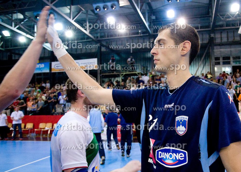 Nenad Bilbija of Slovenia at men handball match in Qualifications for European Championship Austria 2010 between National Teams of Slovenia and Belarus, on June 10, 2009, in Kodeljevo, Ljubljana,  Slovenia. Slovenia won 38:26. (Photo by Vid Ponikvar / Sportida)