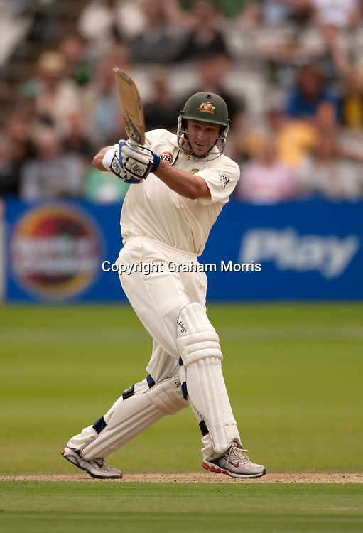 Michael Hussey bats during the MCC Spirit of Cricket Test Match between Pakistan and Australia at Lord's.  Photo: Graham Morris (Tel: +44(0)20 8969 4192 Email: sales@cricketpix.com) 13/07/10