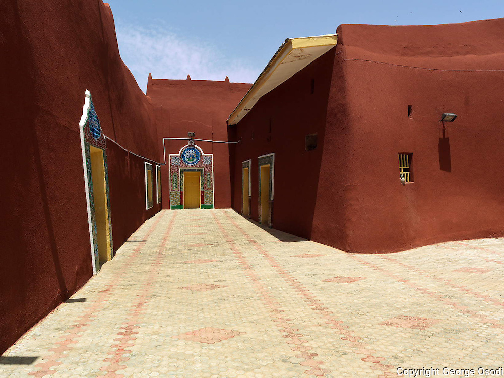 Gidan Korau, The Katsina Royal Palace reportedly built in 1348AD by Muhammedu Korau is is believed to be the first Mislim King of Katsina.The palace is one of the oldest among the first generation palaces in Hausaland.