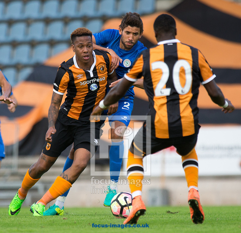 Yakoubi (Caykur Rizespor) of Caykur Rizespor and Abel Hernandez and Mohamed Ali of Hull City during the Friendly match at Kufstein Arena, Kufstein<br /> Picture by EXPA Pictures/Focus Images Ltd 07814482222<br /> 03/08/2016