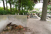 flower deposit corner at graveyard The Netherlands