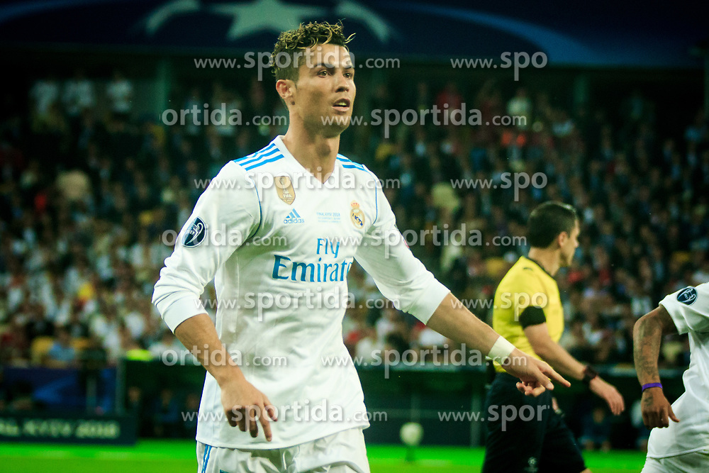 Cristiano Ronaldo of Real Madrid during the UEFA Champions League final football match between Liverpool and Real Madrid at the Olympic Stadium in Kiev, Ukraine on May 26, 2018.Photo by Sandi Fiser / Sportida