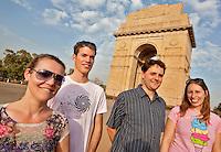 NEW DELHI India ; media , journalist,<br /> Noor Tonkens ,, Ties Aben en Mascha de Jong.