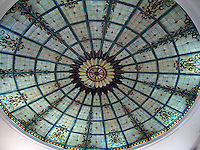 Stained Glass Dome, Lobby, Jefferson Hotel, Richmond, Virginia, USA, 200705200345..Copyright Image from Victor Patterson, 54 Dorchester Park, Belfast, UK, BT9 6RJ..Tel: +44 28 9066 1296.Mob: +44 7802 353836.Voicemail +44 20 8816 7153.Skype: victorpattersonbelfast.Email: victorpatterson@mac.com.Email: victorpatterson@ireland.com (back-up)..IMPORTANT: If you wish to use this image or any other of my images please go to www.victorpatterson.com and click on the Terms & Conditions. Then contact me by email or phone with the reference number(s) of the image(s) concerned.