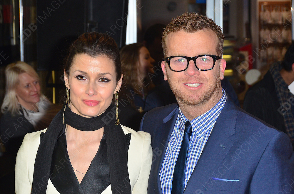 30.JANUARY.2012. LONDON<br /> <br /> BRIDGET MOYNAHAN AND JOSEPH MCGINTY ATTENDS THE UK PREMIERE OF THIS MEANS WAR AT THE ODEON KENSINGTON IN LONDON<br /> <br /> BYLINE: EDBIMAGEARCHIVE.COM<br /> <br /> *THIS IMAGE IS STRICTLY FOR UK NEWSPAPERS AND MAGAZINES ONLY*<br /> *FOR WORLD WIDE SALES AND WEB USE PLEASE CONTACT EDBIMAGEARCHIVE - 0208 954 5968*