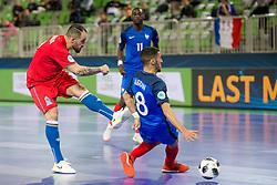 Azdine Aigoun of France during futsal match between France and Azerbaijan at Day 4 of UEFA Futsal EURO 2018, on February 2, 2018 in Arena Stozice, Ljubljana, Slovenia. Photo by Urban Urbanc / Sportida