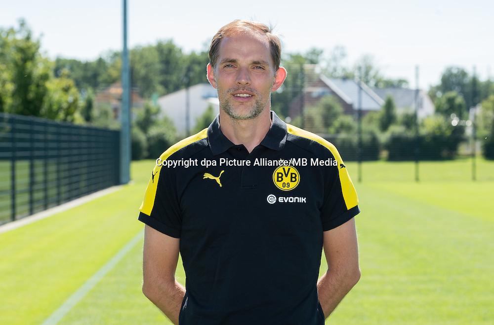 German Bundesliga - Season 2016/17 - Photocall Borussia Dortmund on 17 August 2016 in Dortmund, Germany: Head coach Thomas Tuchel. Photo: Guido Kirchner/dpa | usage worldwide