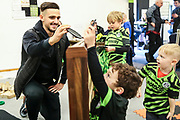 Kids zone during the EFL Sky Bet League 2 match between Forest Green Rovers and Walsall at the New Lawn, Forest Green, United Kingdom on 8 February 2020.