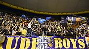 DESCRIZIONE : Torino Lega A 2015-16 Manital Torino-Victoria Libertas Pesaro<br /> GIOCATORE : Manital Auxilium Torino<br /> CATEGORIA : Ultras Tifosi Spettatori Pubblico Ritratto Esultanza<br /> SQUADRA : Manital Auxilium Torino<br /> EVENTO : Campionato Lega A 2015-2016<br /> GARA : Manital Torino-Victoria Libertas Pesaro<br /> DATA : 04/05/2016<br /> SPORT : Pallacanestro<br /> AUTORE : Agenzia Ciamillo-Castoria/M.Matta<br /> Galleria : Lega Basket A 2015-2016<br /> Fotonotizia: Torino Lega A 2015-2016 Manital Torino-Victoria Libertas Pesaro