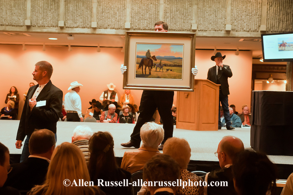 The Russell, C.M. Russell Museum Sale, Great Falls, Montana, 2011, The Holding Pens by Steve Oiestad, $5000