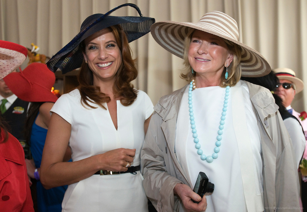 "Kate Walsh and Martha Stewart..To celebrate the launch of the new Mott's vegetable juice, Kate Walsh hosts the Mott's Garden Blend VIP Suite and helps Derby-goers get the day started ""on the right track,"" Saturday, May 7, 2011 at the Kentucky Derby in Louisville, Ky. (Photo by Brian Bohannon)"
