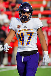 NORMAL, IL - October 06:  Michael Bishoff during a college football game between the ISU (Illinois State University) Redbirds and the Western Illinois Leathernecks on October 06 2018 at Hancock Stadium in Normal, IL. (Photo by Alan Look)